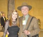 With Larry Hagman
